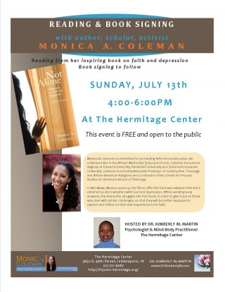 Monica A Coleman.reading+booksigning